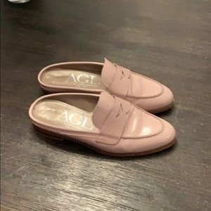 AGL slip on leather loafers